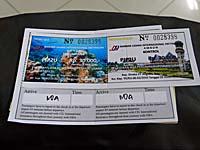 アンボンの空港使用料のチケット