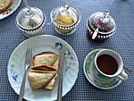 ガマラマゲストハウスの朝食