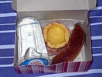 NBA航空 アンボン-バンダ島 機内食