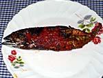 イカン・アサップ 魚の薫製 サンバルソース