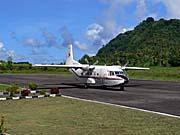 バンダ空港に到着したNBAの飛行機