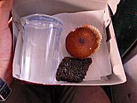 NBA航空 バンダ島-アンボン 機内食