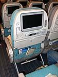 シンガポール航空:A380 エコノミーの座席2