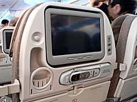 シンガポール航空 A380のエコノミーパーソナルディスプレイ