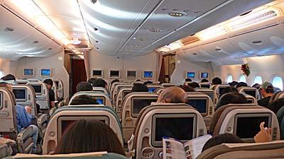 シンガポール航空 A380:エコノミーの座席