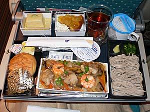 シンガポール航空:成田-シンガポール機内食