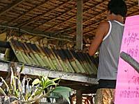 ココナッツライスの竹焼き