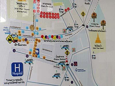メークロン駅周辺図