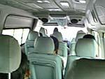 ミニバスの座席