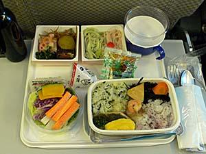 日本航空 成田-バンコク機内食 和食