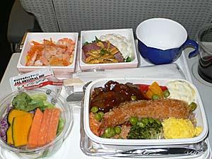 日本航空 成田ーバンコク機内食 洋食
