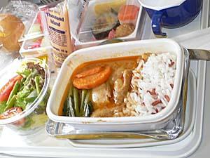 日本航空 バンコク-成田機内食 タイカレー