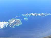 帰りは上空から日本の島が見えた。奄美あたりかな~。