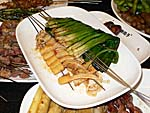 エノキと葱の串焼き