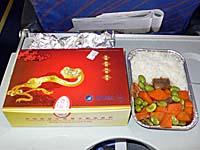 中国南方航空 大連-長春線の午前便機内食3