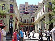 ハルビンの観光名所キタイスカヤの建物の一角