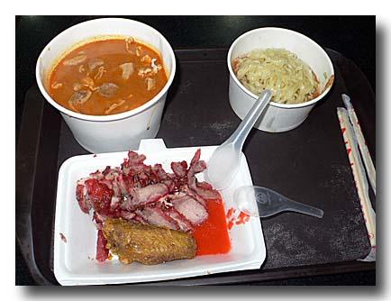 沙茶面と拌麺と焼き豚