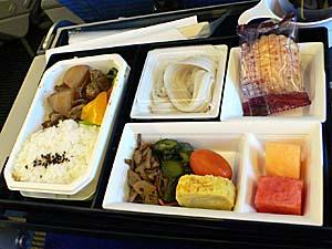 ANAアモイ-成田機内食 和食