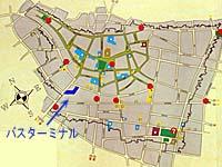 トリニダー歴史地区マップ