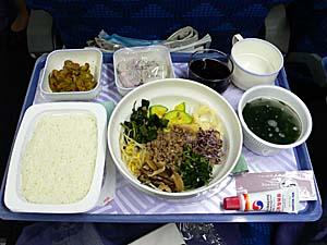 大韓航空:仁川-ナンディ機内食 夕食