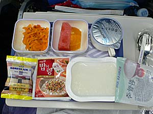 大韓航空:仁川-ナンディ機内食 朝食