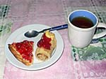 朝食 2日目 タルトとホットケーキ