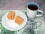 朝食 3日目 チェリーケーキ