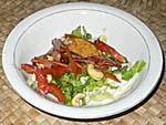 夕食:ガーデンサラダ