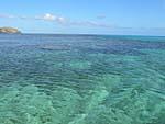 ナズラ島の周りの海の様子
