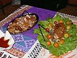 ロボ料理:チキンと魚
