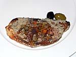 野菜のカレー粉炒めのカナッペ