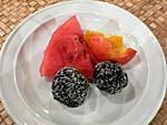 ラムボールと果物