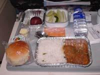 インディアンエアライン帰りの機内食