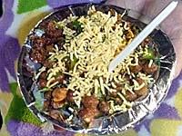 ひよこ豆のカレー煮とバジャー