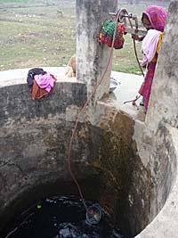 カジュラホ村の井戸