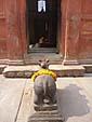 ラームナガル城内のヒンドゥ寺院の入り口