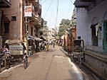 バラナシの旧市街の町並み