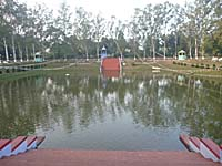 竹林精舎跡の池
