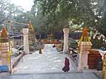 マハボディ寺院内