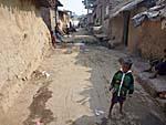 スジャータ村の路地