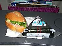 タイ国際航空 羽田-バンコク機内食のおにぎり