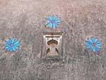宮殿の花のレリーフ