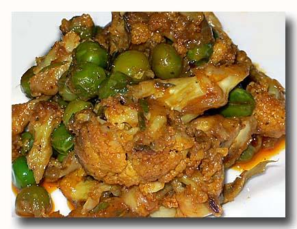 ゴビ・マタル カリフラワーと豆のカレー