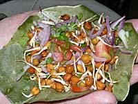 発芽豆と生野菜の和え物