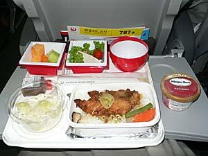 日本航空 バンコク-成田機内食
