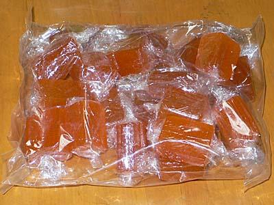 マンゴー味のゼリー