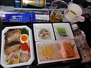 全日空 成田-ジャカルタ行き機内食 ぶりの煮付け丼