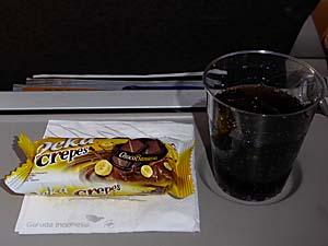 ガルーダインドネシア航空ジャカルタ-アンボン行き軽食