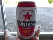 アンボンの空港でビンタンビール