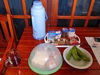 コースターコテージの朝食セット